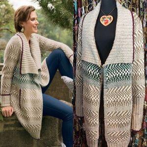 Soft Surroundings River Run Sweater Coat M